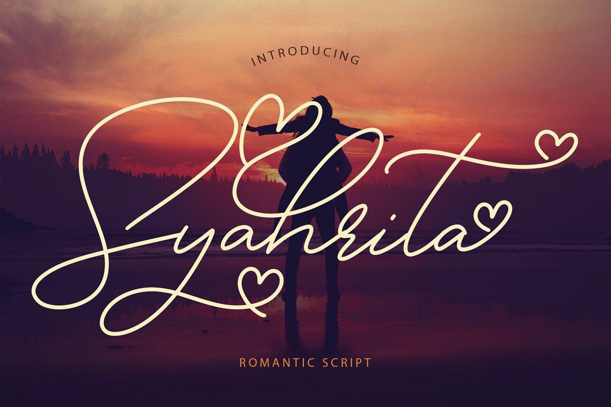 Syahrita Beautiful Romantic Font example image 1