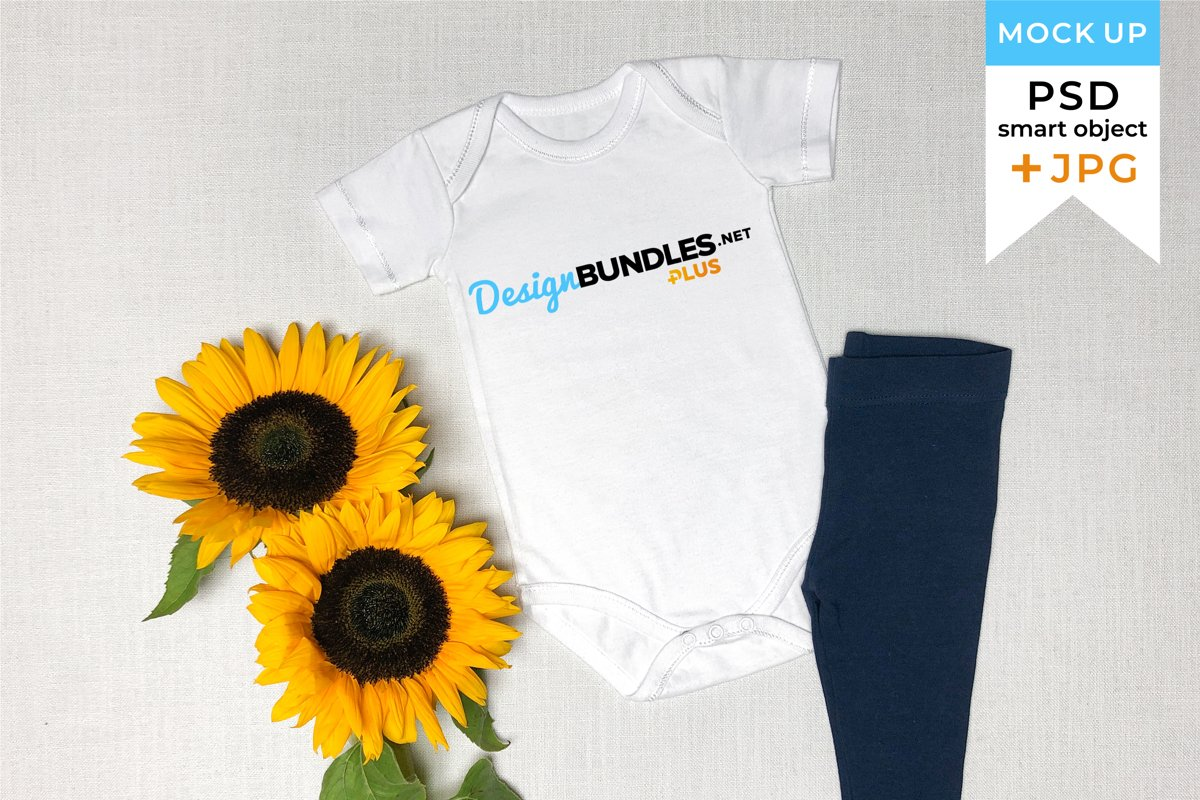 Mockup Baby Clothes in PSD and JPG Files | Crafters mockup example image 1