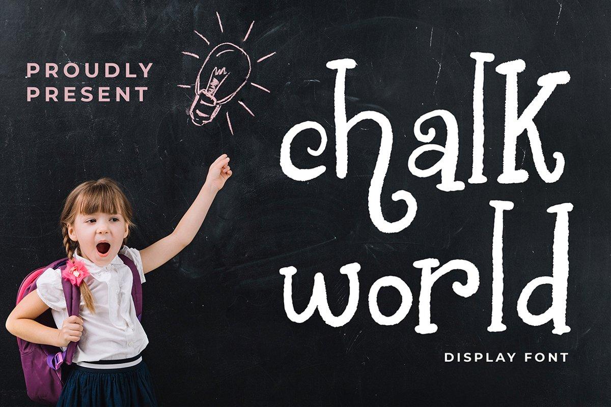 Chalk World Display Font example image 1
