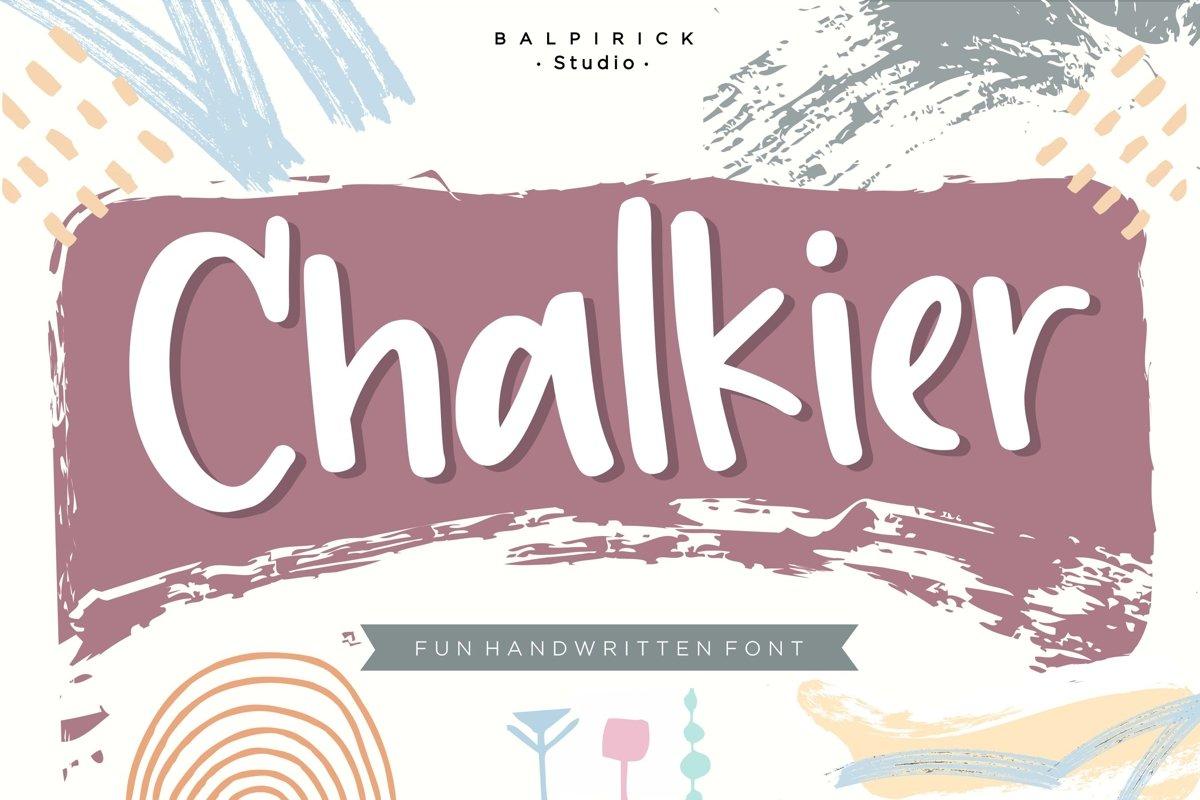 Chalkier Fun Handwritten Font example image 1