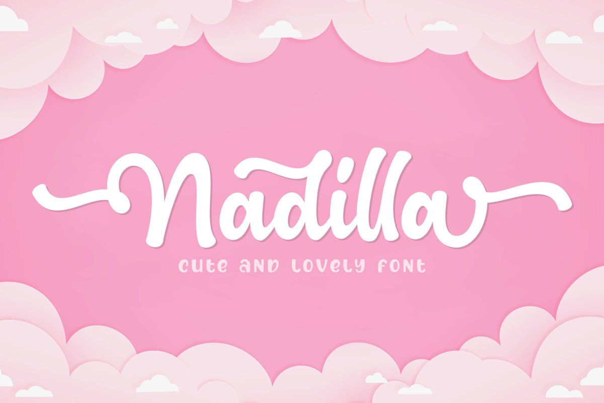 Nadilla / Cute and Lovely Font example image 1