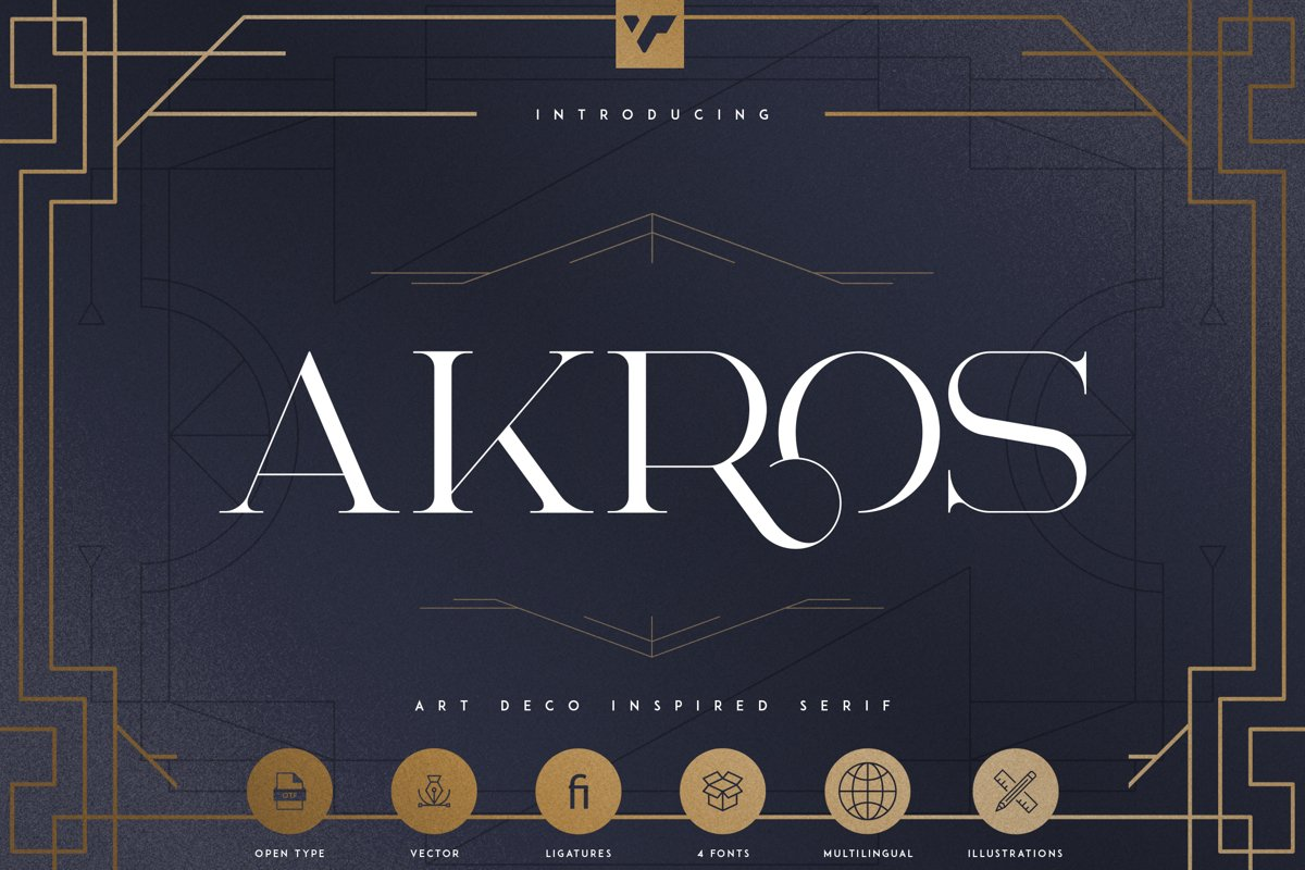 Akros - Art Deco Serif Extras example image 1