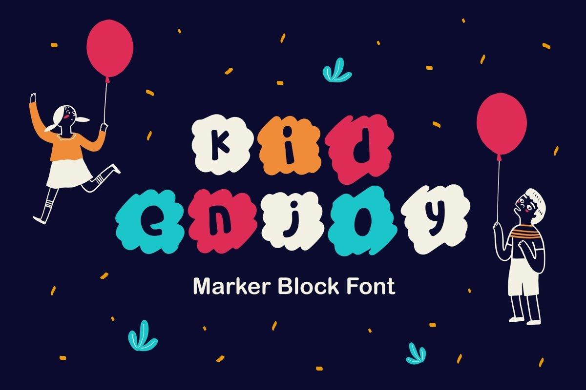 Kidenjoy - Marker Block Font example image 1