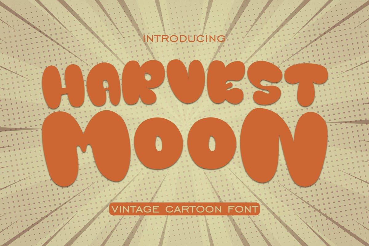 Harvest Moon Vintage Cartoon Font example image 1