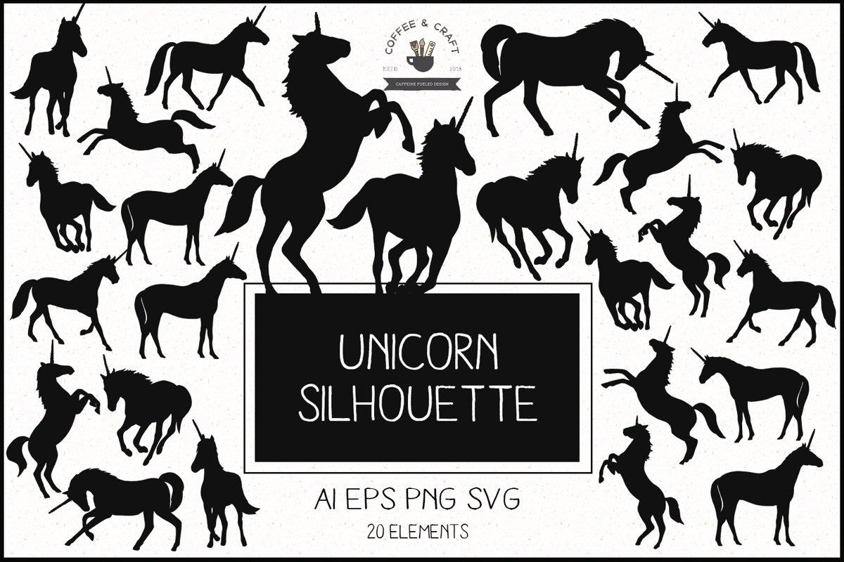 Unicorn Silhouette set example image 1