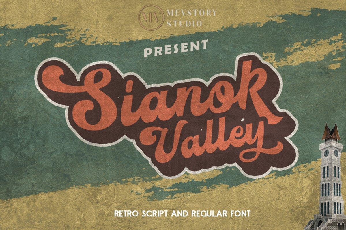 Sianok Valley | Retro Font example image 1