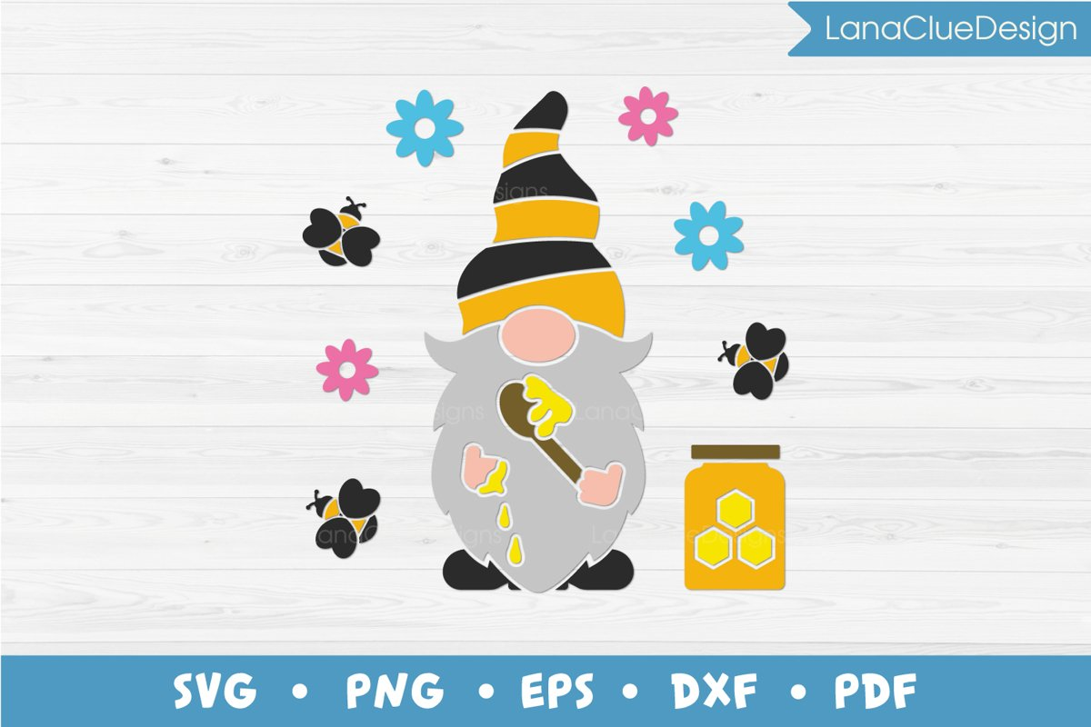 Honey Gnome SVG - Bumble Bee Gnome example image 1