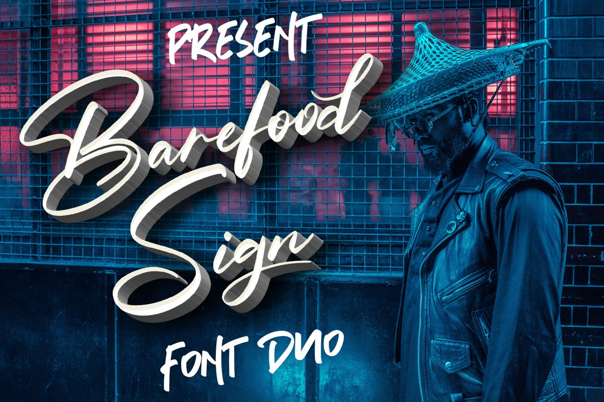 Barefood Sign | Font Combination example image 1