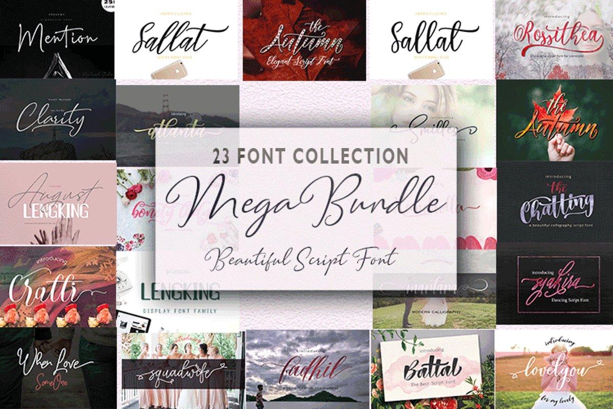 23 Font Bundle example image 1