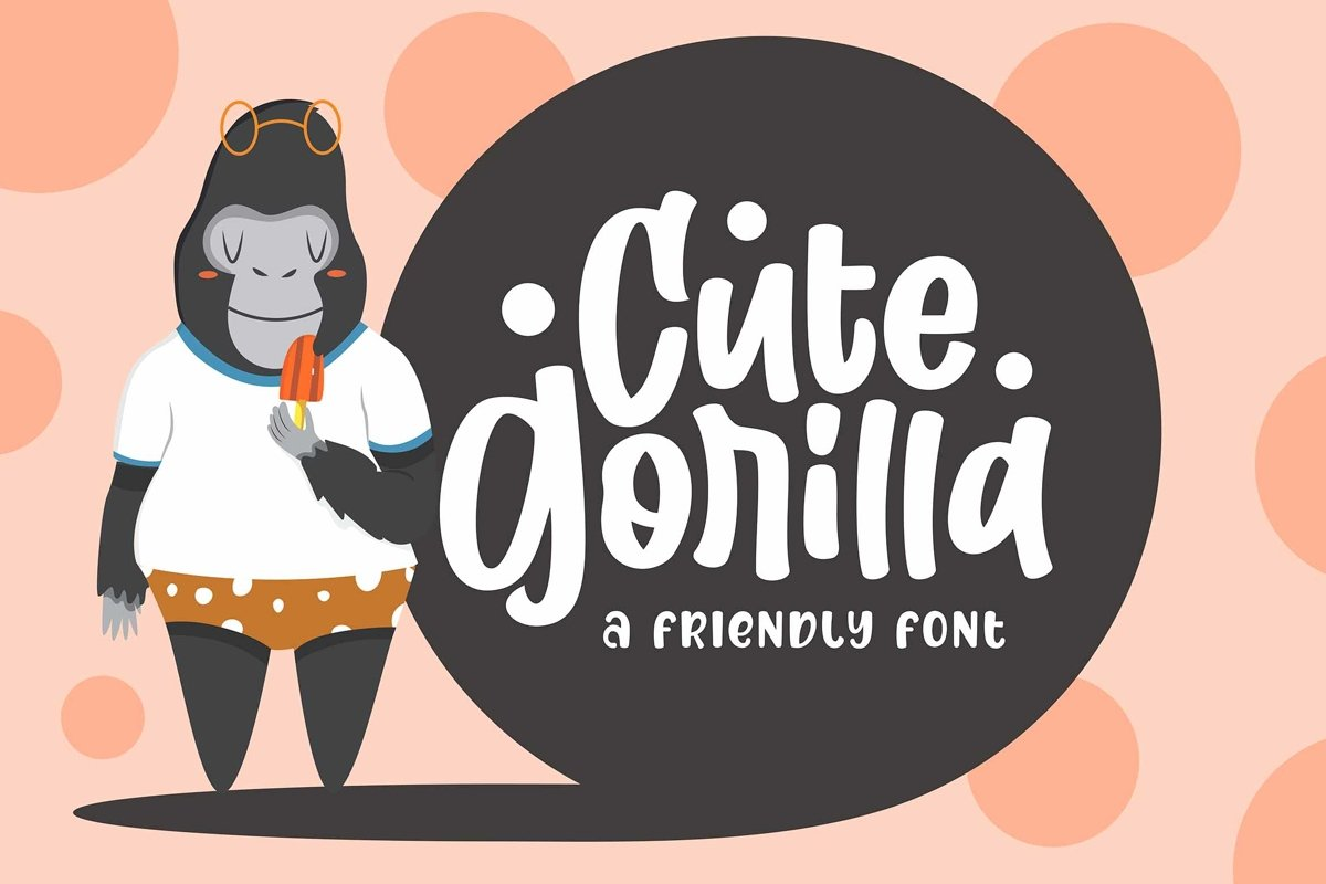 Cute Gorilla / Quirky Font example image 1