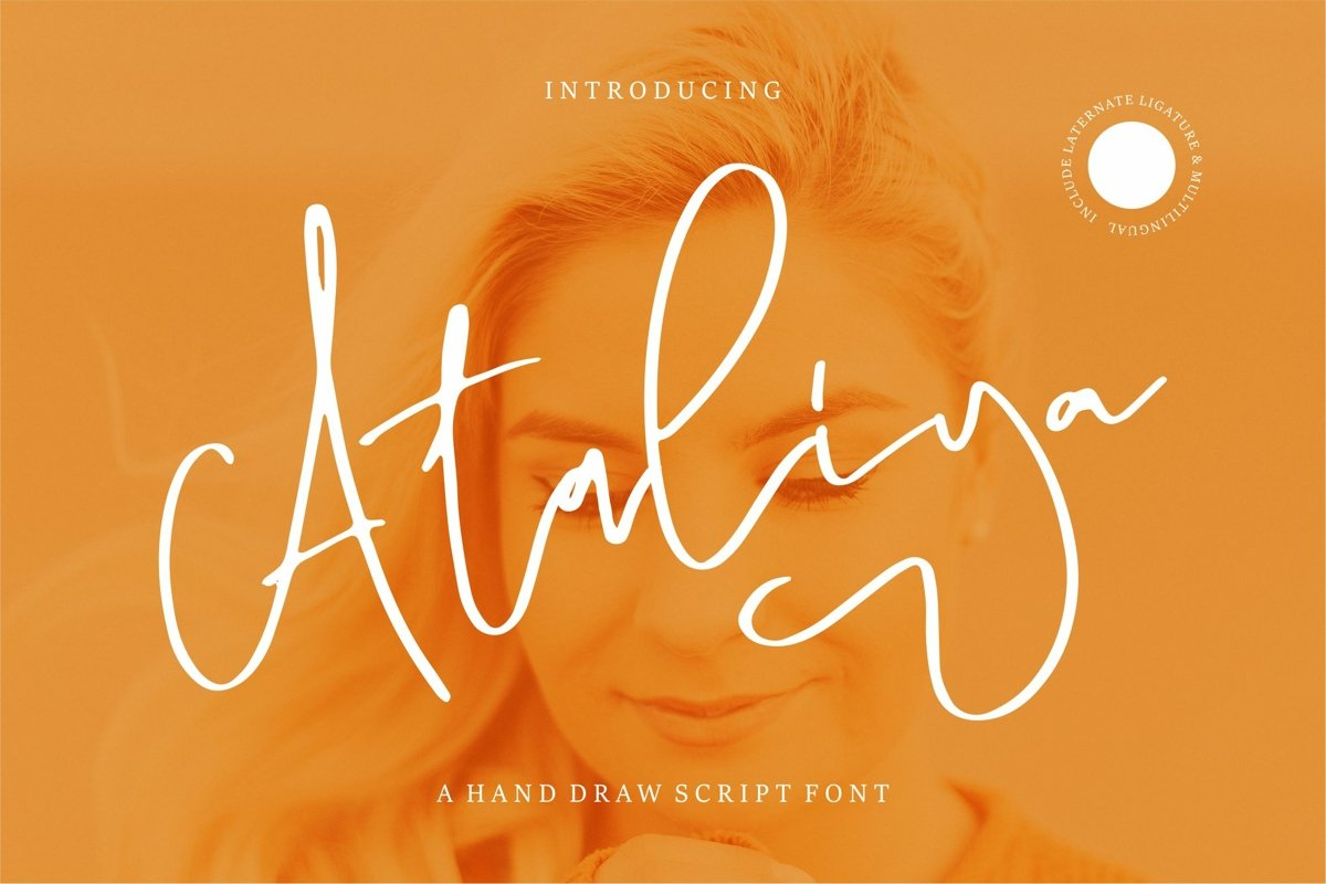 Ataliya - A Hand Draw Script Font example image 1