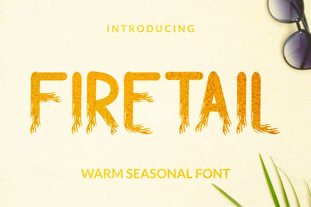 Firetail Font example image 1
