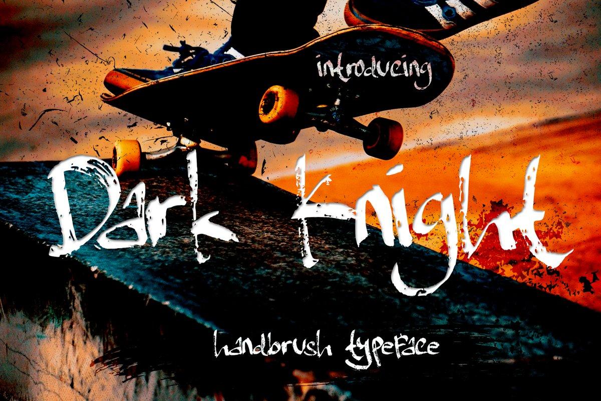 Dark Knight - handbrush Typeface example image 1