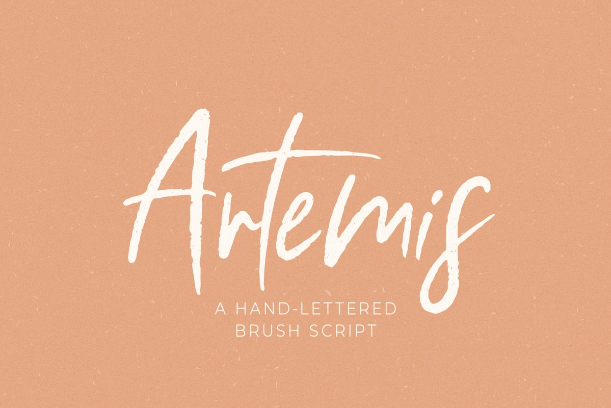 Artemis // A Hand-Lettered Brush Script example image 1