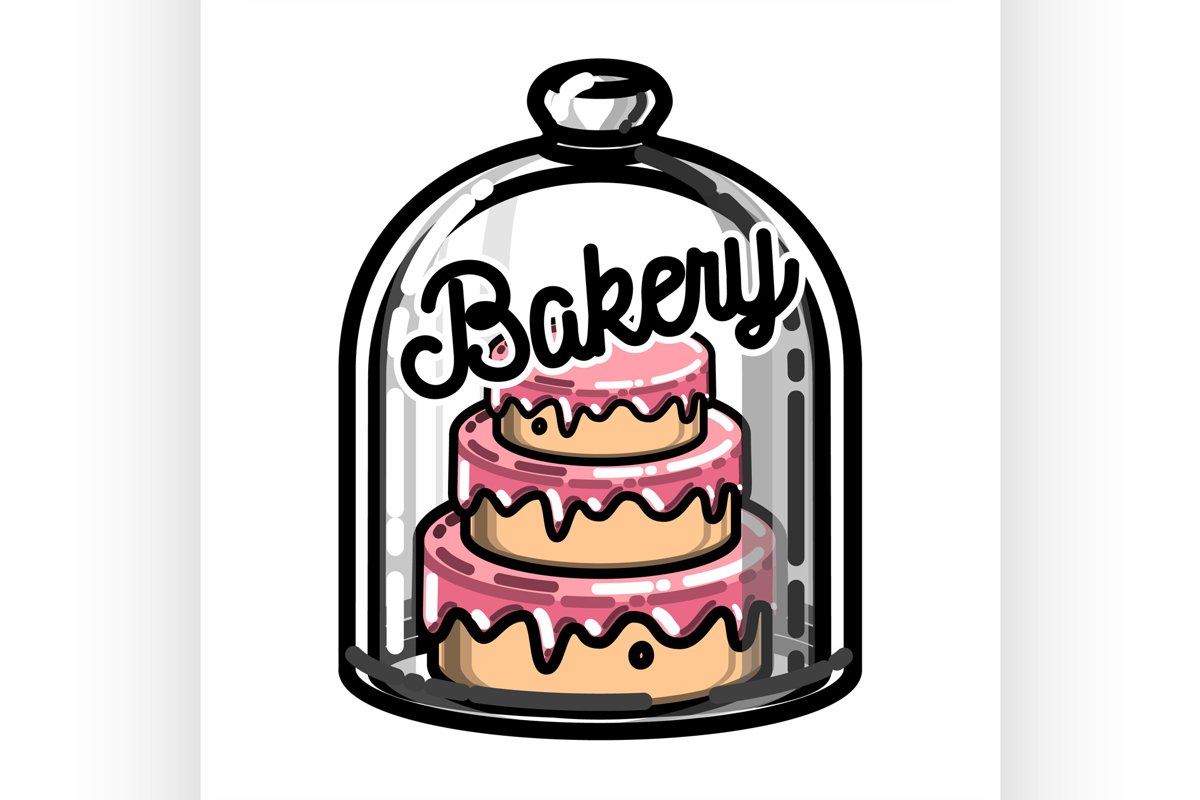Color vintage bakery emblem example image 1