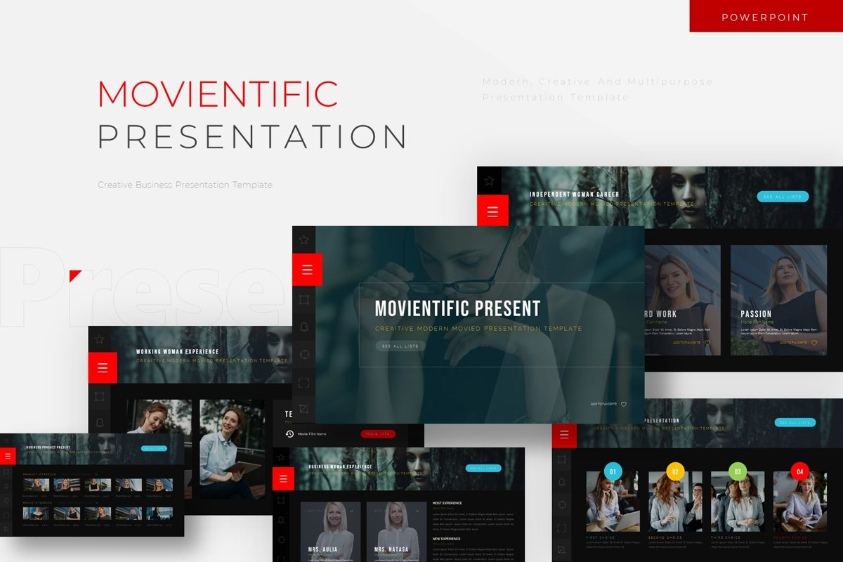 Movientific - Powerpoint Template example image 1