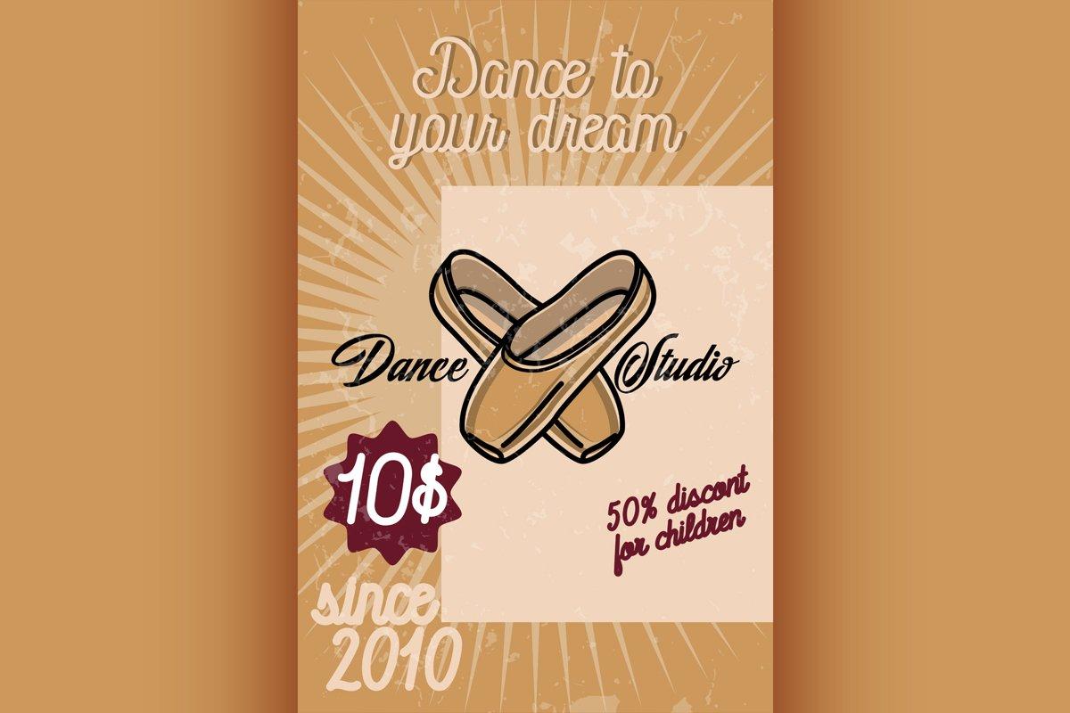 Color vintage dance studio banner example image 1