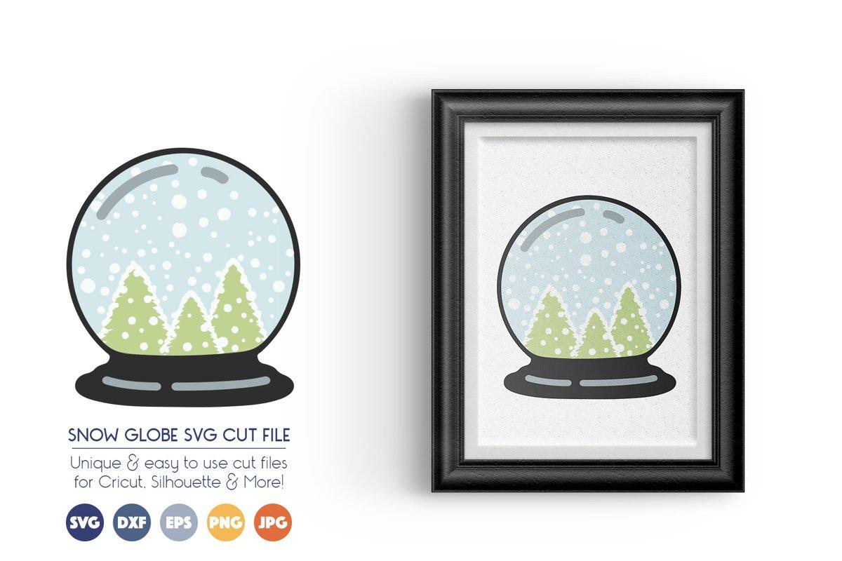 Christmas Snow Globe SVG - Christmas Trees example image 1
