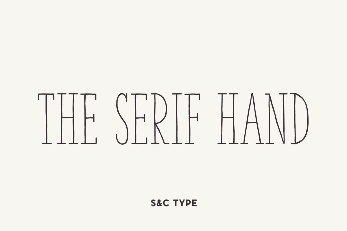 The Serif Hand Family example image 1