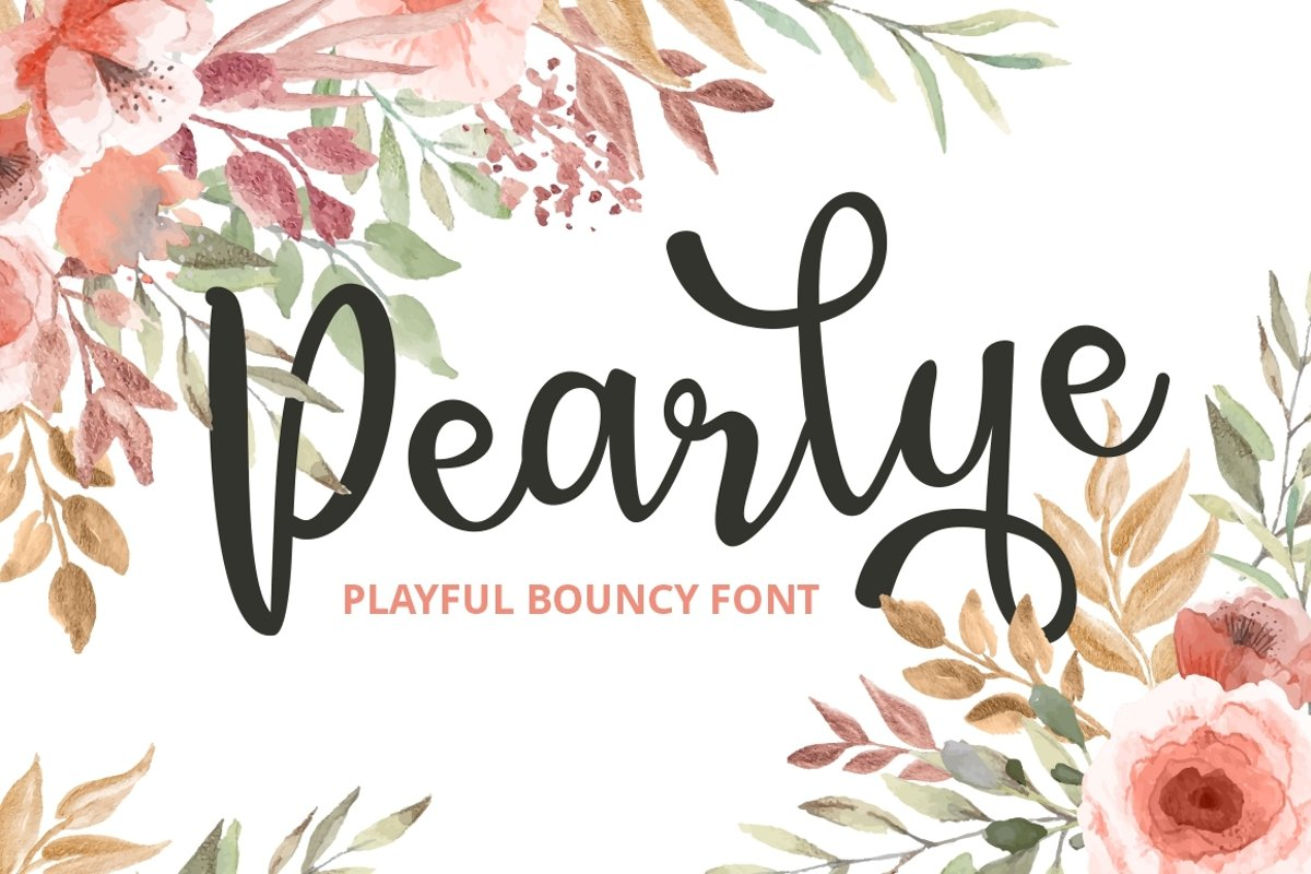 Pearlye - Playful Bouncy Font example image 1