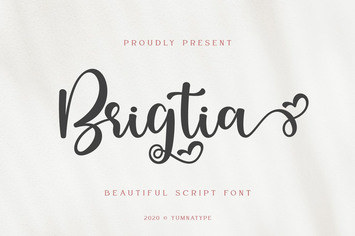 Brigtia Lovely Swash Font example image 1
