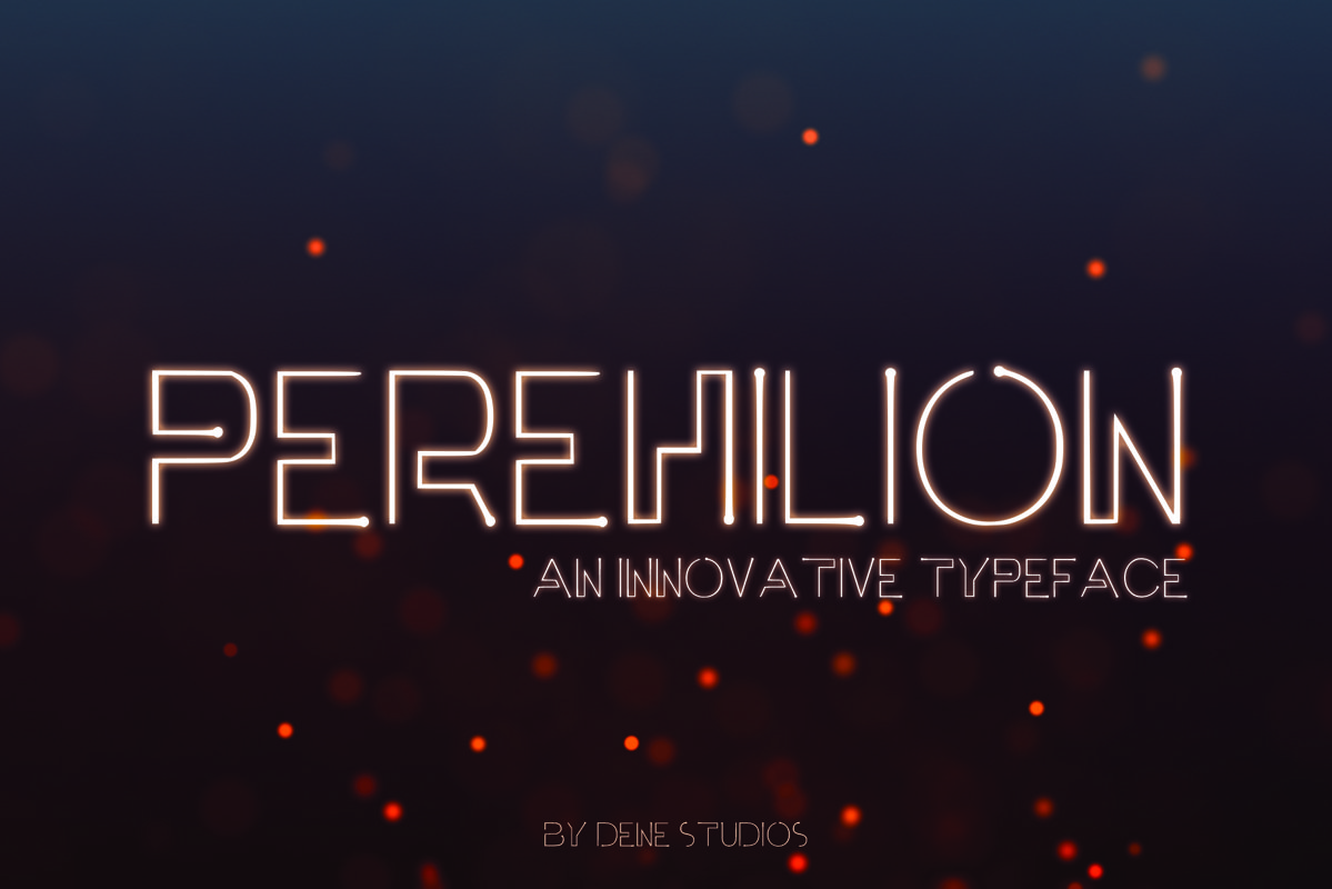 PEREHILION - An Innovative Typeface example image 1