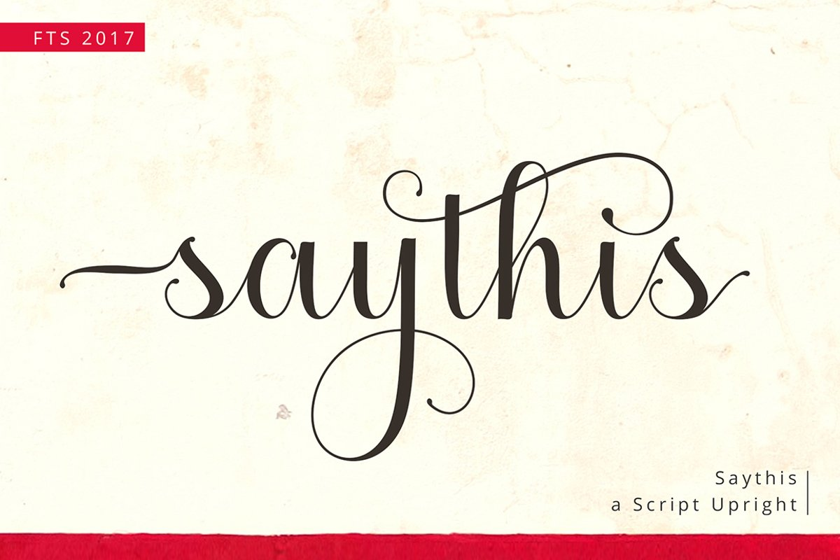 Saythis Script Upright example image 1
