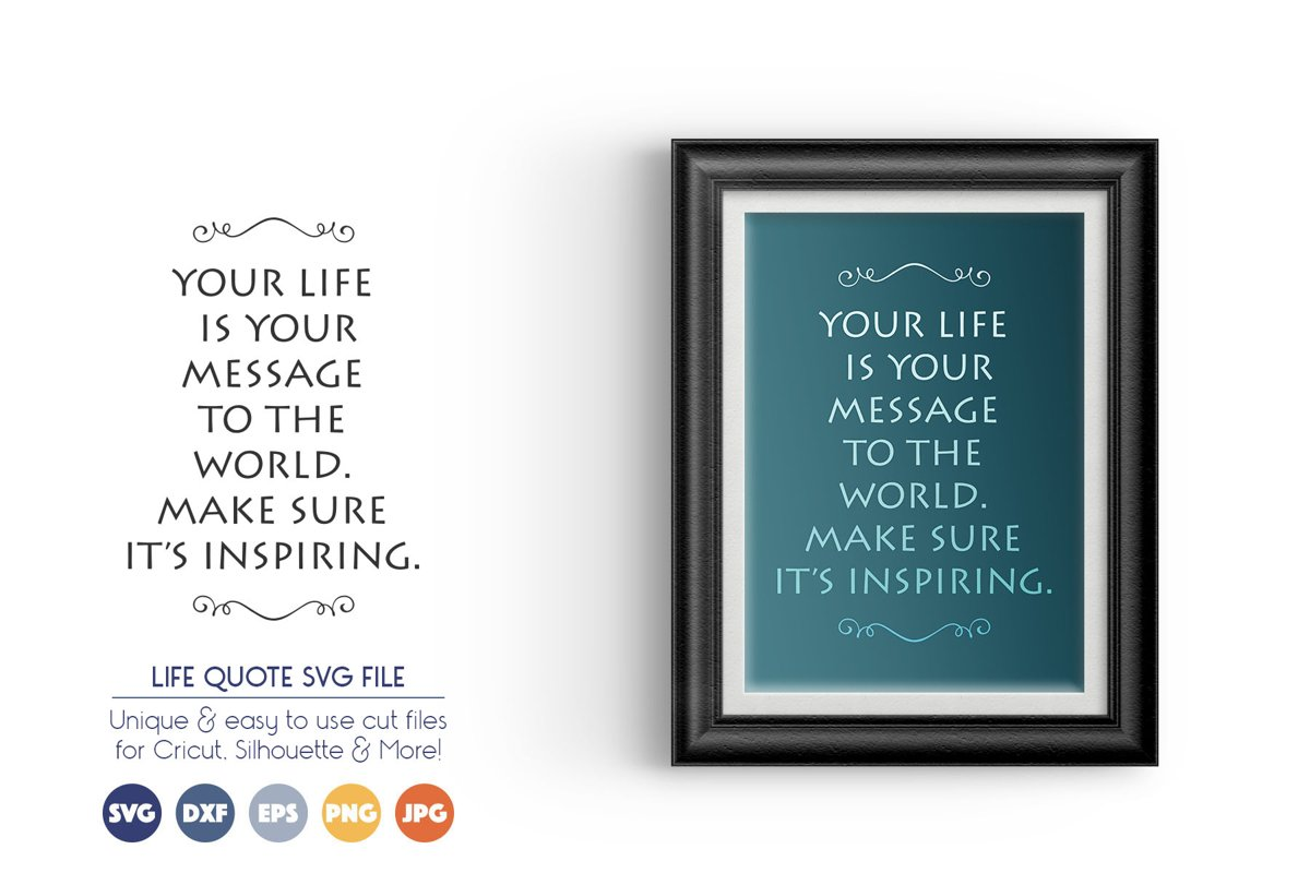 Life Quote SVG Cut Files example image 1