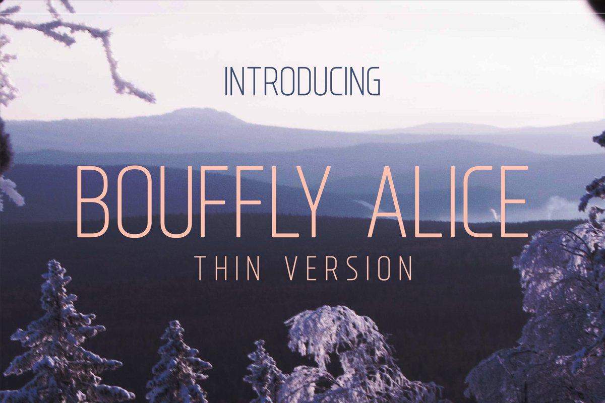 Bouffly Alice Thin Versionl Elegant font sans serif example image 1