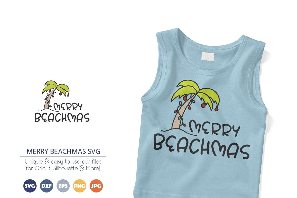 Funny Christmas SVG   Merry Beachmas SVG example image 1