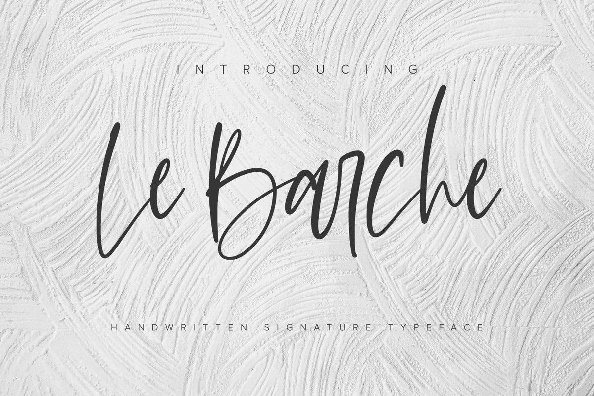 Le Barche - Chic Handwritten Font example image 1