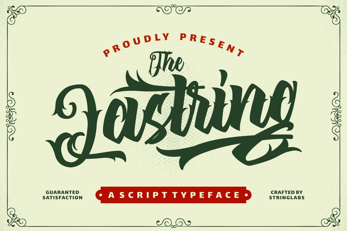 The Lastring - Tattoo Script Font example image 1