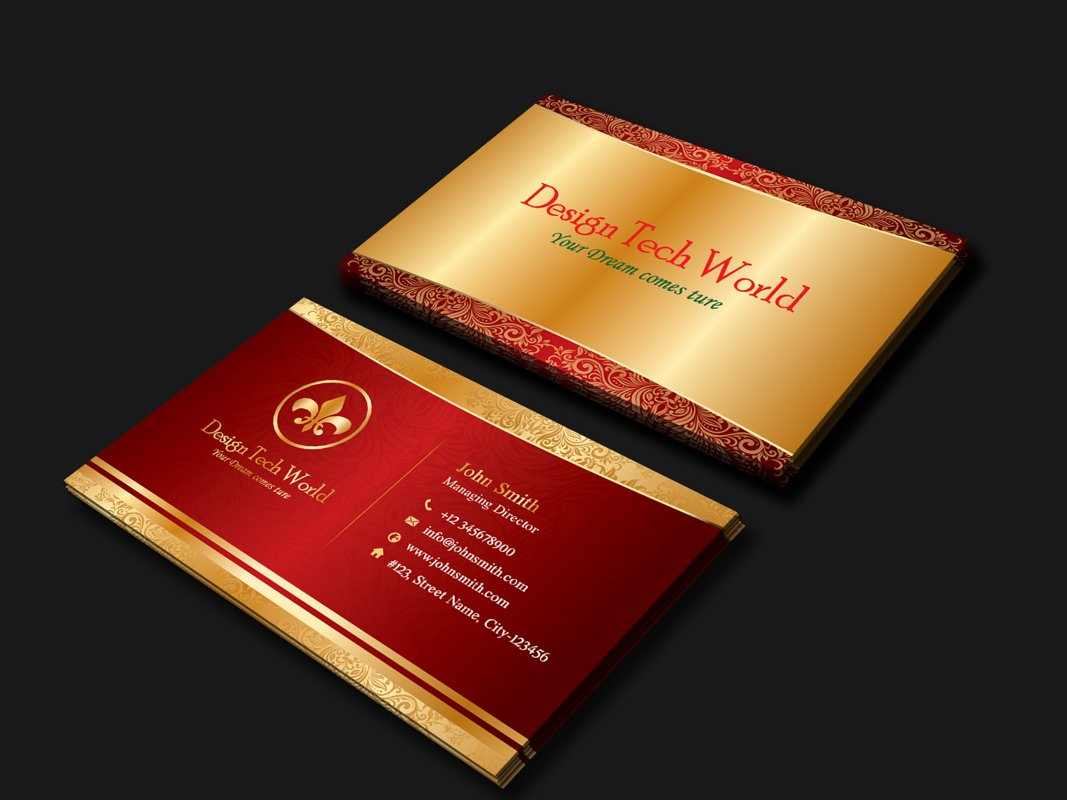 Golden Business Card example image 1