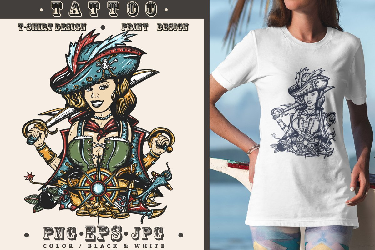 Pirate girl example image 1