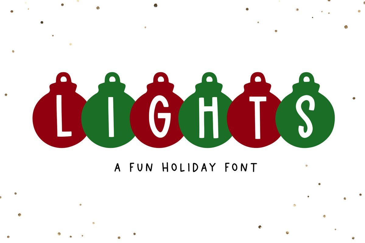 Lights - A Fun Holiday Font example image 1