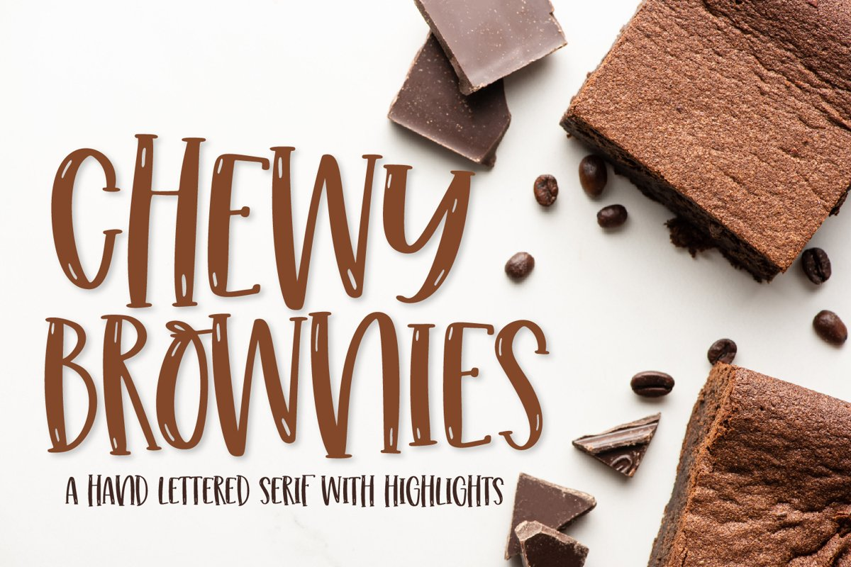 Chewy Brownies - A Serif With Highlights example image 1