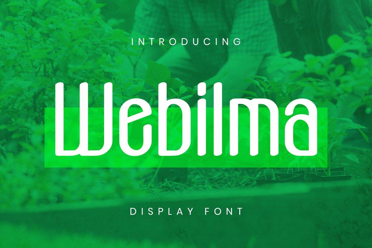 Webilma Font example image 1