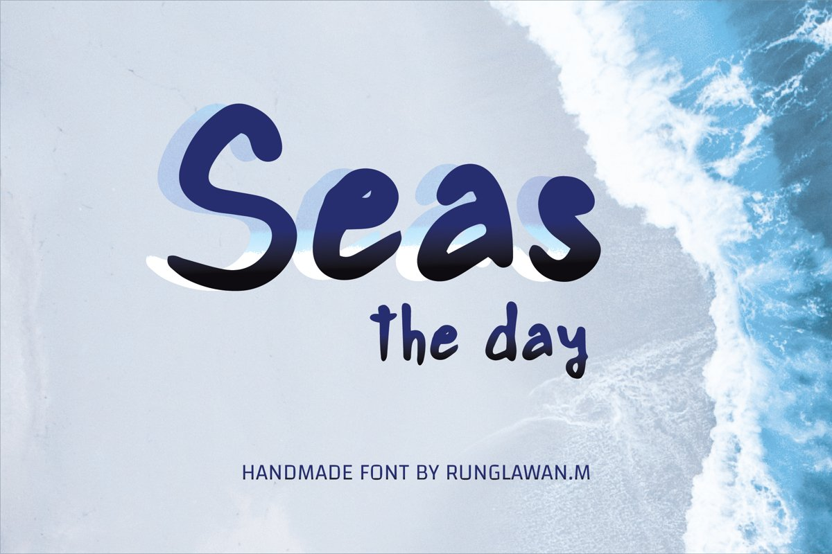 seas the day - A cute handwritten font example image 1