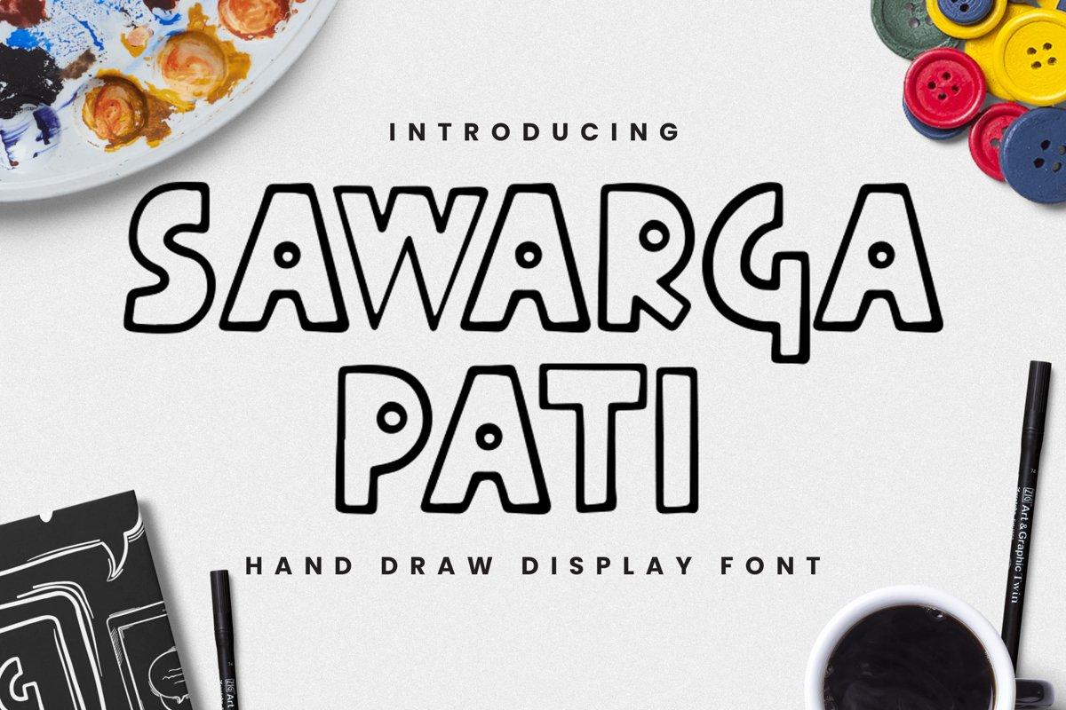 Sawarga Pati Font example image 1