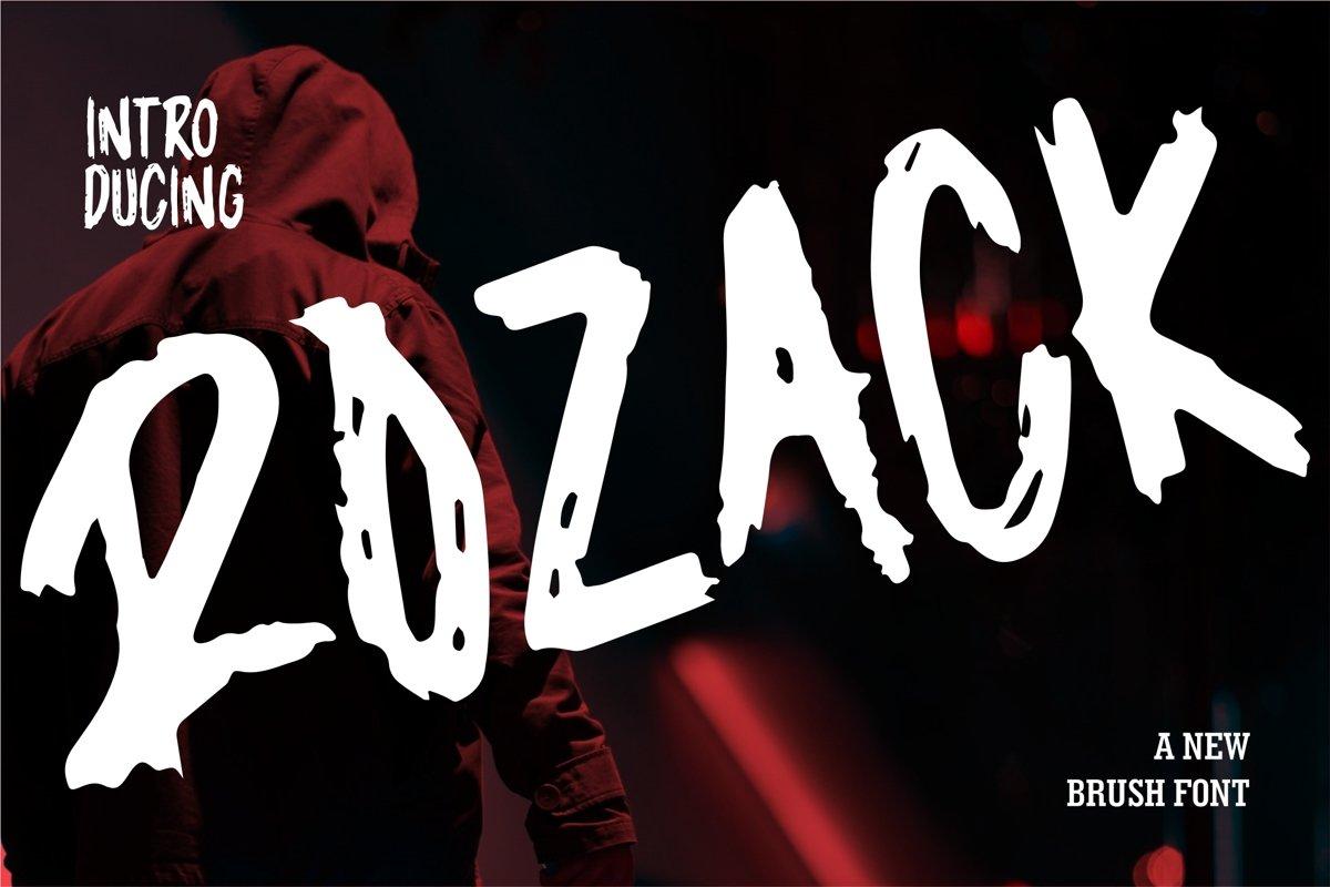 Rozack - A New Brush Font example image 1