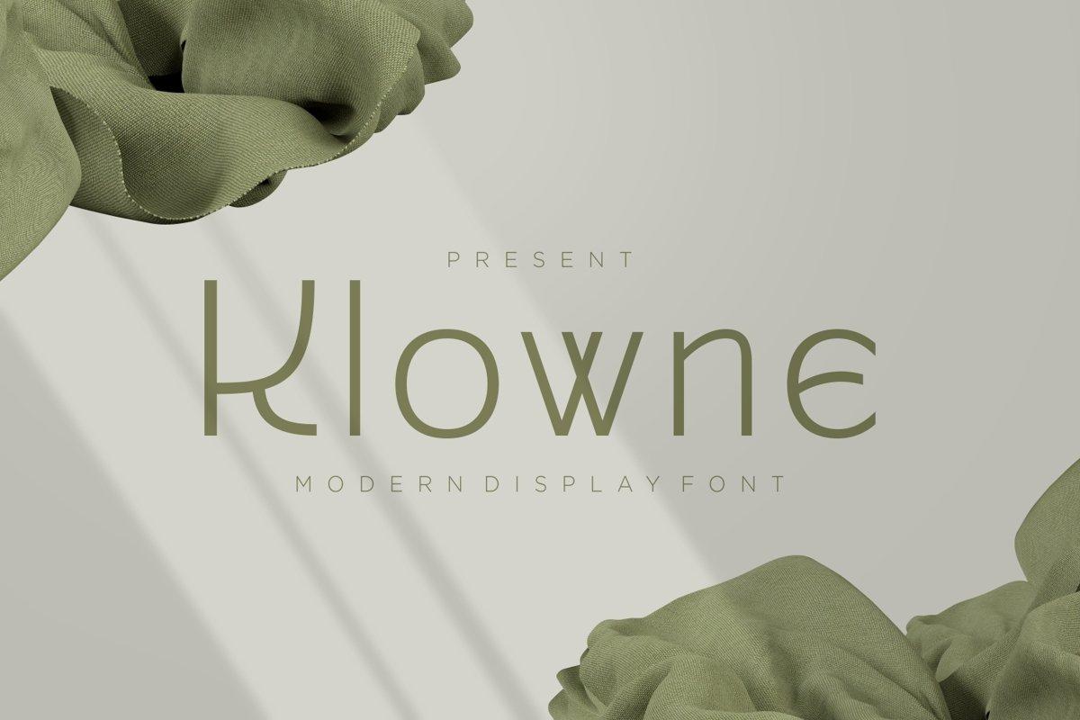 Klowne - Modern Display Font example image 1