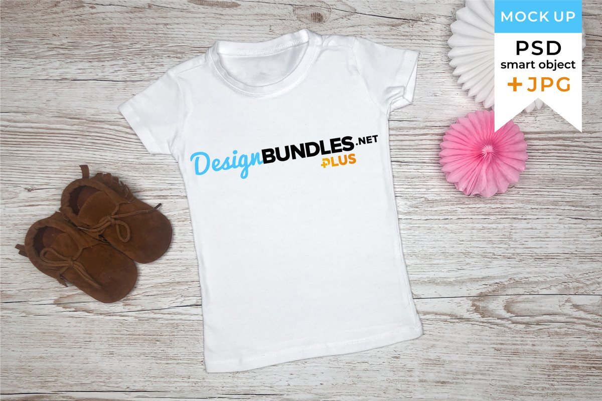 Kids T-shirt Mockup | Toddler T-shirt mockup PSD JPG example image 1
