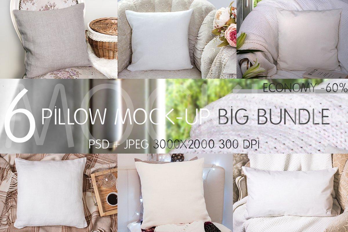 Pillow Mock-up Big Bundle example image 1