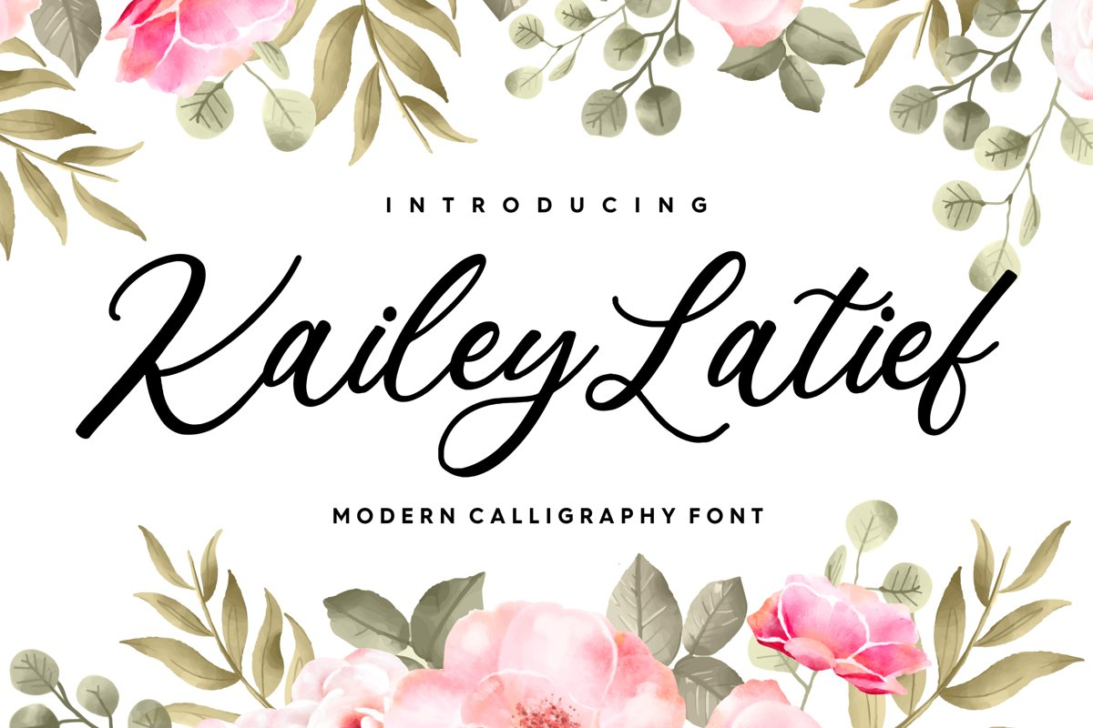 Kailey Latief Modern Calligraphy Font example image 1