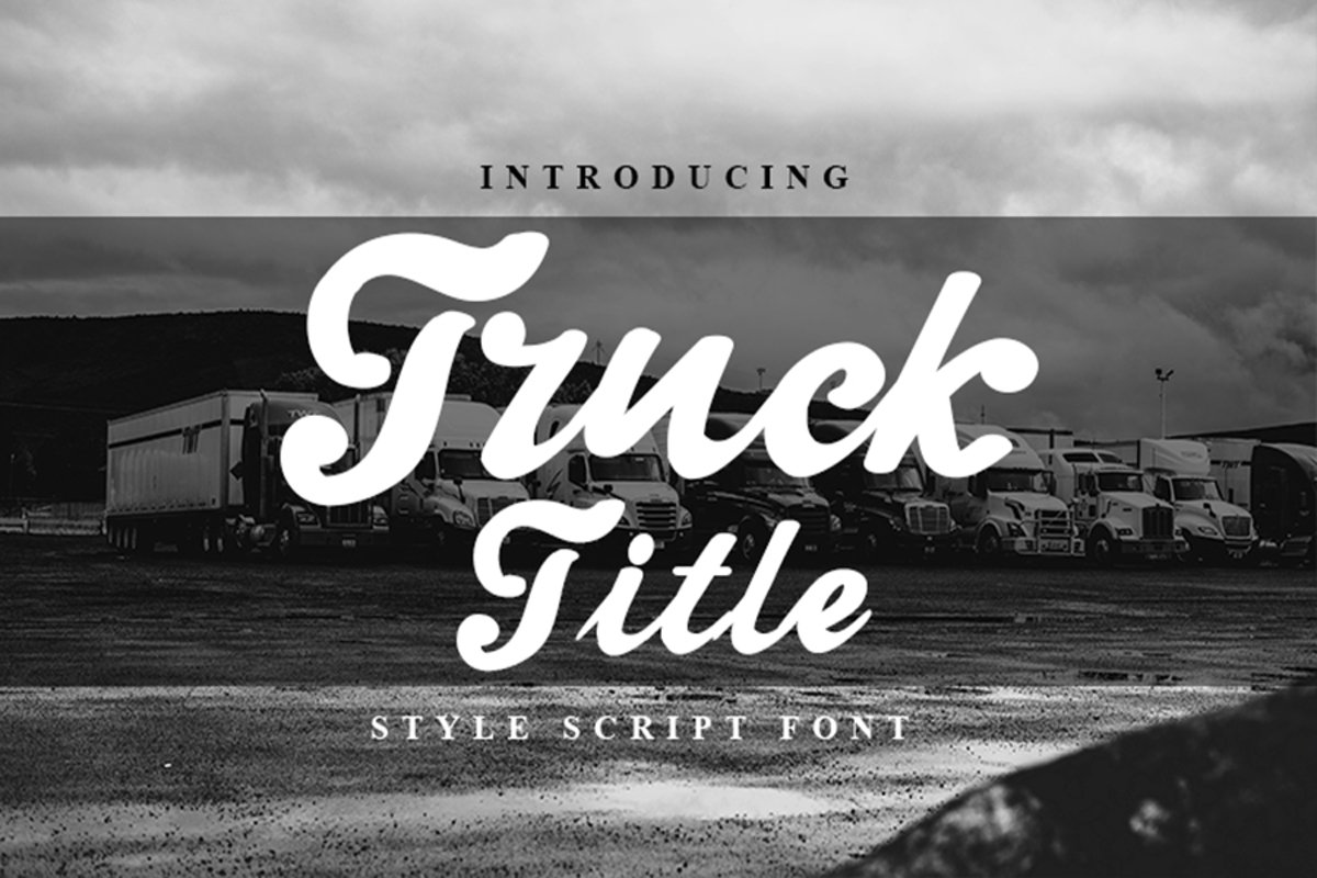 Truck Title Font example image 1