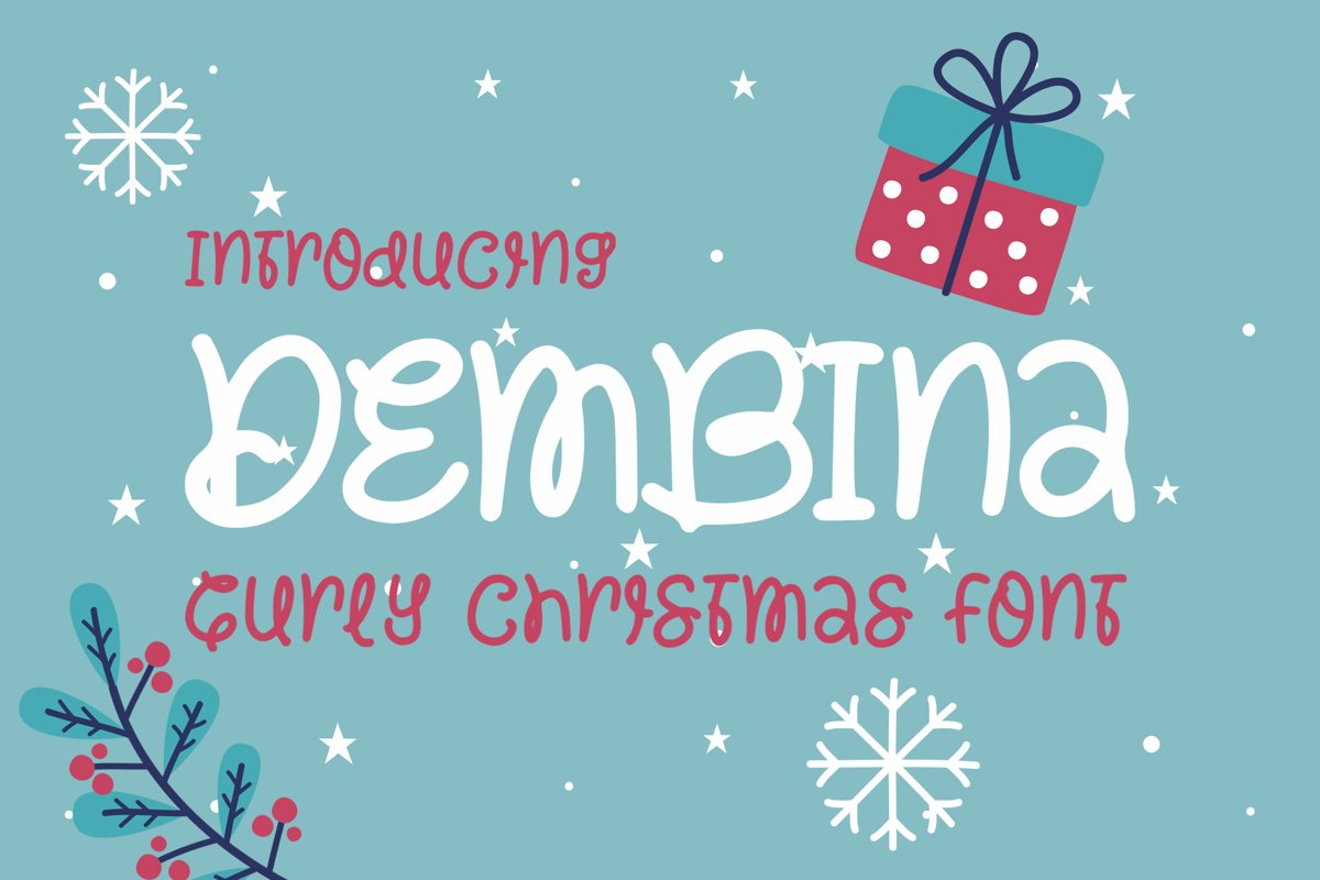 Dembina - Curey Chrisimas Font example image 1
