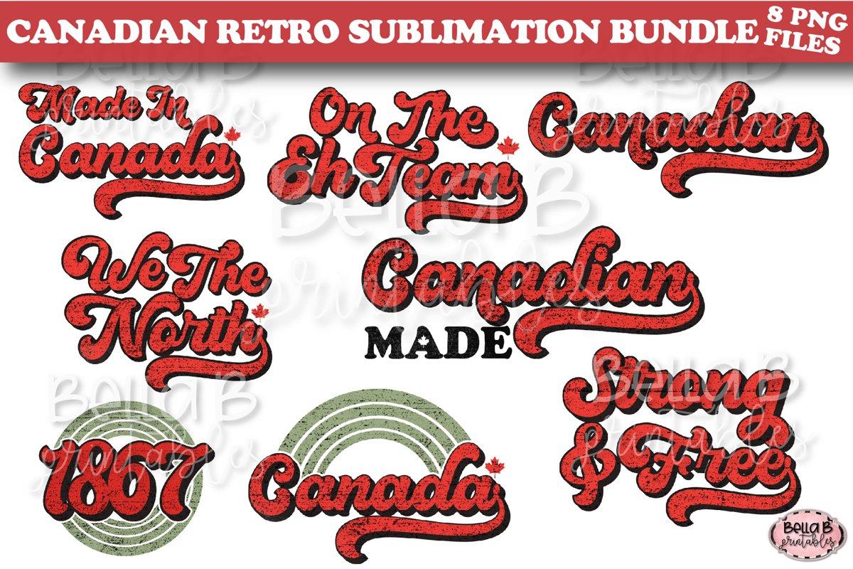 Canadian Sublimation Bundle, Retro Canada Sublimation Bundle example image 1
