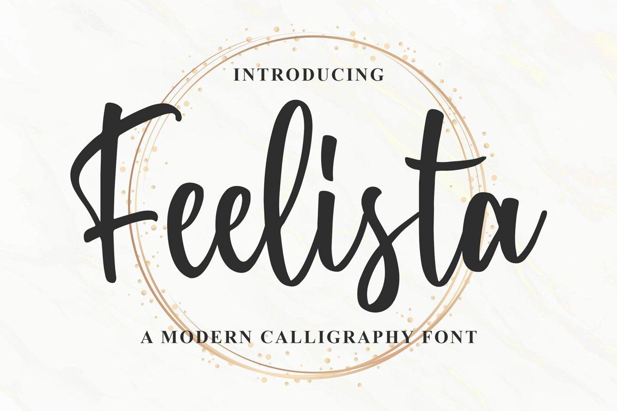 Feelista - a Modern Calligraphy Font example image 1