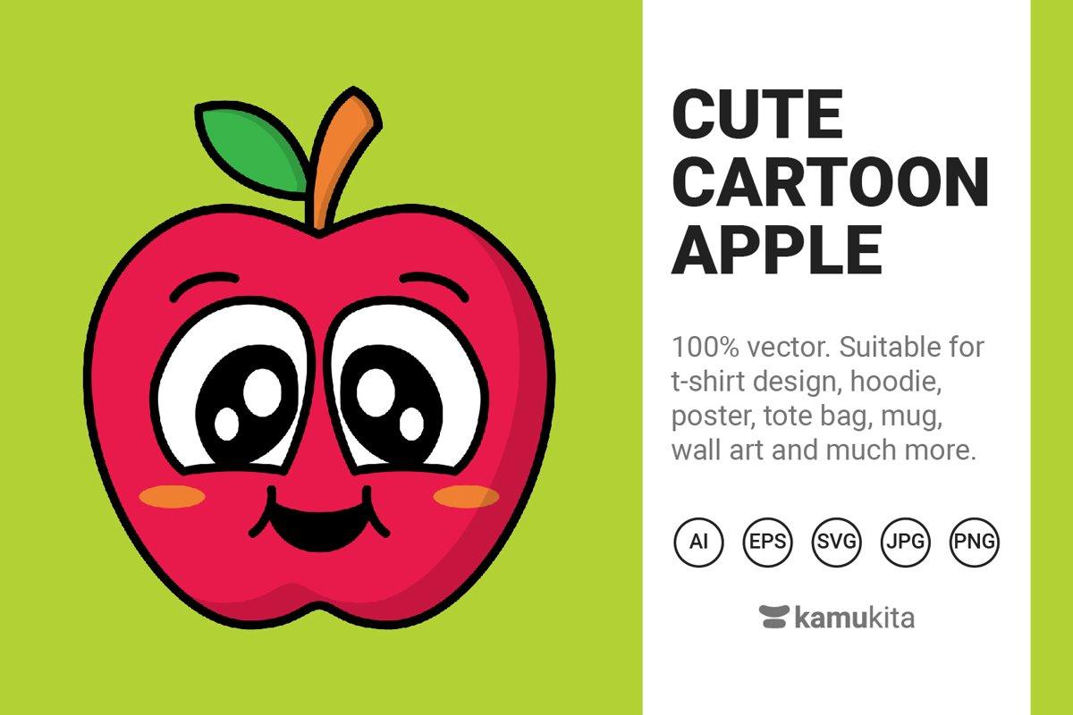Cute Cartoon Apple example image 1