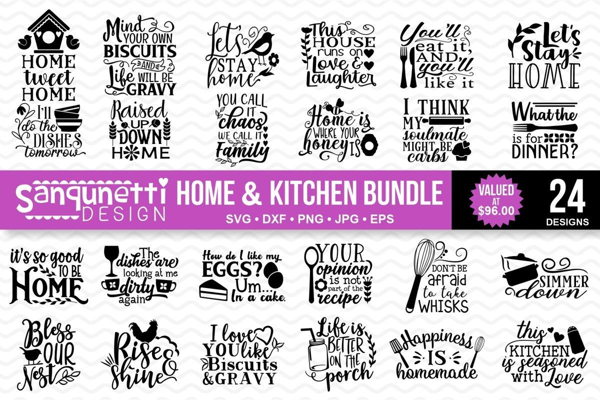 Home & Kitchen SVG bundle example image 1